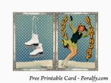 Ice Skating Birthday Card foralfy Figure Skating Happy Birthday Card and Envelope