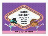 Ice Skating Birthday Card Ice Skating Party Card Zazzle Ca