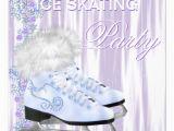 Ice Skating Birthday Card Ice Skating Party Card Zazzle