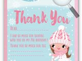 Ice Skating Birthday Card Ice Skating Party Thank You Cards Di 645ty Harrison
