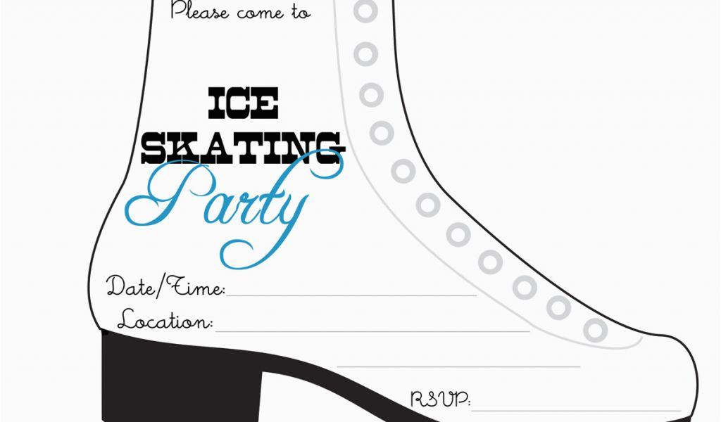 Ice Skating Birthday Party Invitations Free Printable Bnute