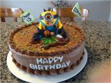 Icing Decorations for Birthday Cakes Minion Sports Birthday Cake 12 Inch Chocolate Cake with