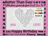 Ideas for 60th Birthday Gift for Man 60th Birthday Gift 60th Birthday Poem Heart Print 8 X 10