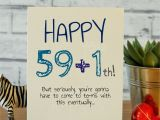 Ideas for 60th Birthday Gifts for Him 59 1th Cards Birthday Cards for Him 30th Birthday