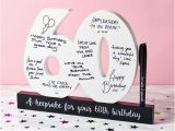 Ideas for 60th Birthday Present for Husband 60th Birthday Signature Number Find Me A Gift