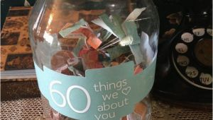Ideas for 60th Birthday Present for Man 60 Things We Love About You 60th Birthday Gift Ideas for