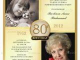 Ideas for 80th Birthday Invitations 15 Sample 80th Birthday Invitations Templates Ideas