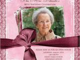 Ideas for 80th Birthday Invitations Feminine Photo Birthday Invitation Open House Invitation