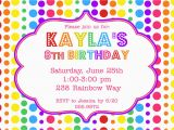 Ideas for Invitations for A Birthday Party Rainbow Birthday Party Invitation 12 00 Via Etsy