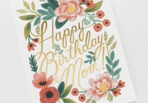 Ideas for Mom S Birthday Card Happy Birthday Mom Single Folded Card Matching Envelope