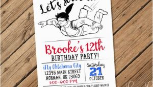 Ifly Birthday Invitations Skydiving Invitation Parachuting Invitation Skydiver