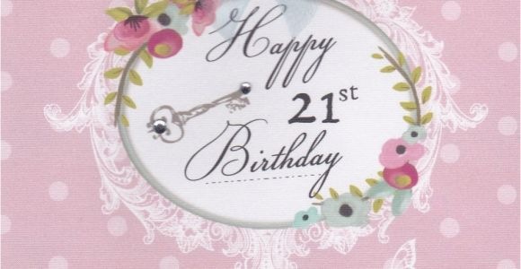 Images Of 21st Birthday Cards Flowers and Key 21st Birthday Card Karenza Paperie