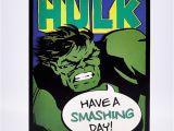 Incredible Hulk Birthday Card Blank Birthday Card Incredible Hulk Card Factory