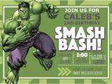 Incredible Hulk Birthday Card Digital Incredible Hulk Birthday Invitation