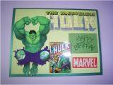 Incredible Hulk Birthday Card Handcrafted Card Happy Birthday Incredible Hulk by