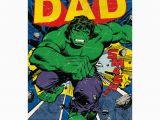 Incredible Hulk Birthday Card Incredible Dad Retro Hulk Birthday Card 345097 0 1