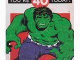 Incredible Hulk Birthday Card Incredible Hulk 40th Birthday Card Birthday Cards