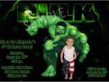 Incredible Hulk Birthday Card Incredible Hulk Birthday Invitations Ideas Bagvania Free