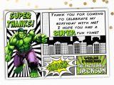 Incredible Hulk Birthday Card Incredible Hulk Thank You Card the Hulk by