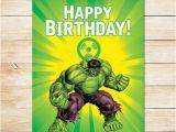 Incredible Hulk Birthday Card Items Similar to Printable Hulk Radiation Birthday Sign
