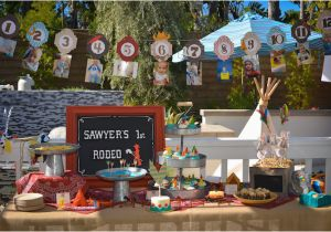 Indian Birthday Party Decorations Kara 39 S Party Ideas Cowboys Indians themed Birthday Party