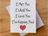 Innovative Birthday Gifts for Him I Love You Card Boyfriend Gift Card for Him Valentine Card
