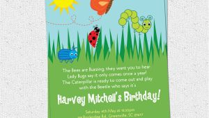 Insect Birthday Party Invitations Bug Insects Birthday Party Invitations Summer butterfly