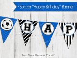 Instant Download Happy Birthday Banner Blue soccer Happy Birthday Banner Instant Download