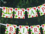 Instant Download Happy Birthday Banner Elf Feet Happy Birthday Banner Printable Instant Download