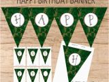 Instant Download Happy Birthday Banner Happy Birthday Banner Instant Download Camo Baner Burlap
