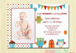 Invitation Card For 1 Year Old Birthday Girl Items Similar To Owl Boy First