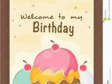 Invitation Card for Birthday Party Online Invitation Card Design for Birthday Party Stock Image