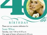 Invitation Cards for 40th Birthday Party 40th Birthday Invitation Wording Bagvania Free Printable