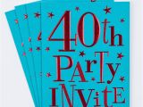 Invitation Cards for 40th Birthday Party 40th Birthday Party Invitation Cards Pack Of 10 Only 1 49