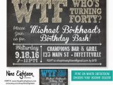 Invitation Cards for 40th Birthday Party Pin by Heather Crowley On 40th Birthday Ideas Pinterest