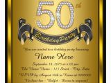 Invitation Cards for 50th Birthday Party 14 50th Birthday Invitations Free Psd Ai Vector Eps