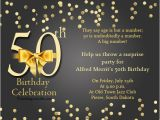 Invitation Cards for 50th Birthday Party 50th Birthday Invitation Wording Samples Wordings and