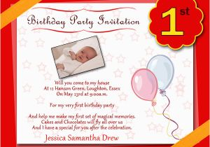 Invitation Cards For Birthday Party Wordings 1st Cardsfor Boy Orderecigsjuice Info