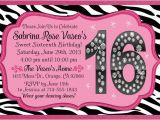 Invitation Cards for Sweet 16 Birthday 16th Birthday Invitation Ideas Cimvitation