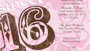 Invitation Cards for Sweet 16 Birthday Cute Sweet 16 Birthday Invitations New Invitations
