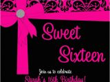 Invitation Cards for Sweet 16 Birthday Pink Black Sweet 16 Birthday Invitations Quinceanera