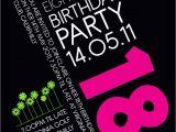 Invitation for 18th Birthday Party 18th Birthday Invitation Idea Party Pinterest