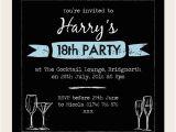 Invitation for 18th Birthday Party 18th Birthday Invitations Boys Chalkboard