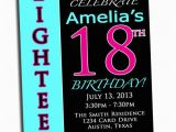 Invitation for 18th Birthday Party Items Similar to 18th Birthday Party Invitation Pink Black