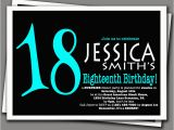 Invitation for 18th Birthday Party Surprise 18th Birthday Invitation Aqua Blue and by