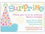 Invitation for A Surprise Birthday Party Birthday Hat Surprise Party Invitations Paperstyle