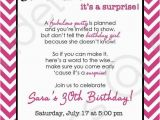 Invitation for A Surprise Birthday Party Chevron Surprise Party Invitation Printable Invitation