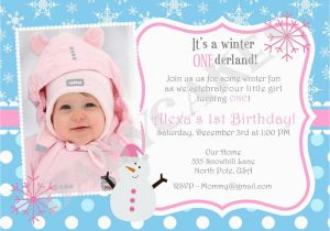 Invitation For One Year Old Birthday Party Wording