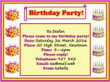 Invitation to A Birthday Party Text Birthday Party Invitation Learnenglish Kids British