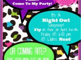 Invitation to A Birthday Party Text Bolling with 5 Quot Night Owl Quot Party Invitations